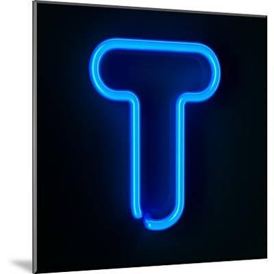 Neon Sign Letter T-badboo-Mounted Art Print