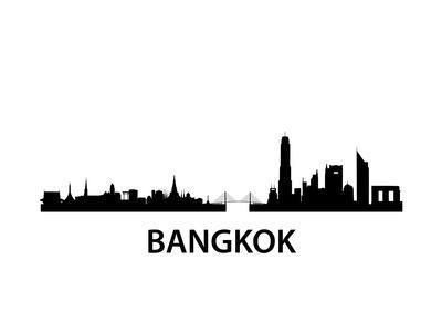 Bangkok Skyline-unkreatives-Framed Art Print