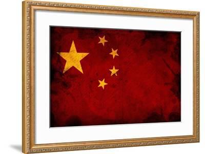 Flag Of China-igor stevanovic-Framed Art Print