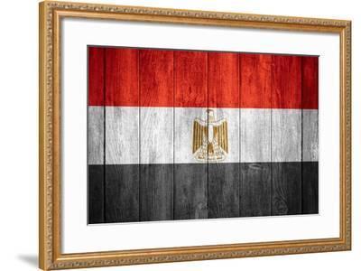 Flag Of Egypt-Miro Novak-Framed Art Print