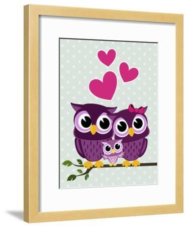 Cute Birds-Sergio Hayashi-Framed Art Print