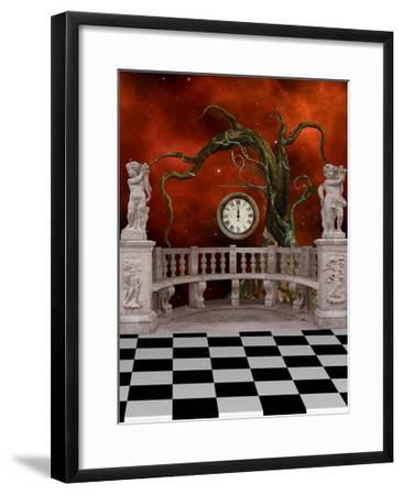 Fantasy Landscape-justdd-Framed Art Print