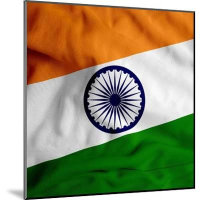 India Cloth Flag-Graphic Design Resources-Mounted Art Print