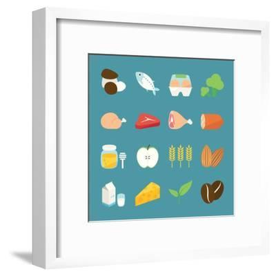 Food Icons-kibsri-Framed Art Print