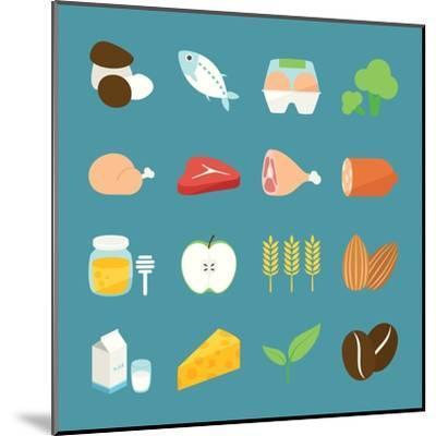 Food Icons-kibsri-Mounted Art Print