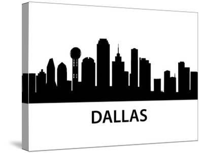 Skyline Dallas-unkreatives-Stretched Canvas Print