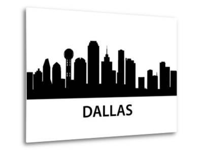 Skyline Dallas-unkreatives-Metal Print