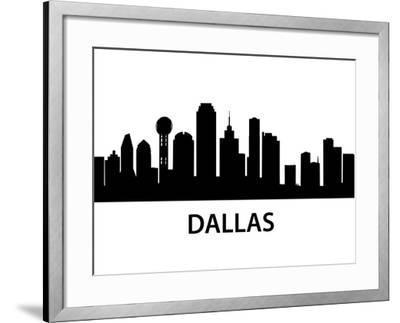 Skyline Dallas-unkreatives-Framed Art Print