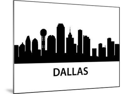 Skyline Dallas-unkreatives-Mounted Art Print