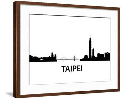 Skyline Taipei-unkreatives-Framed Art Print