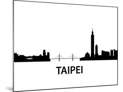 Skyline Taipei-unkreatives-Mounted Art Print