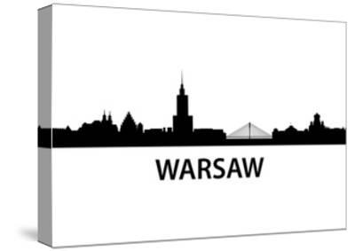 Skyline Warsaw-unkreatives-Stretched Canvas Print