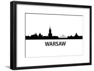 Skyline Warsaw-unkreatives-Framed Art Print