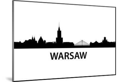 Skyline Warsaw-unkreatives-Mounted Art Print