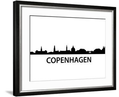 Skyline Kopenhagen-unkreatives-Framed Art Print