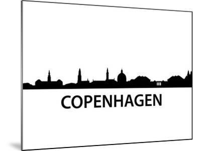Skyline Kopenhagen-unkreatives-Mounted Art Print