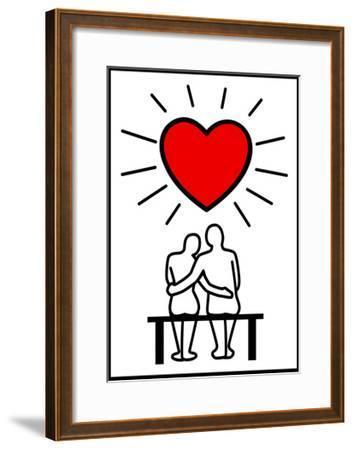 Couples In Love-Rudall30-Framed Art Print