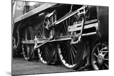 Steam Train Wheels-neillang-Mounted Art Print