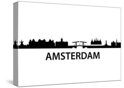 Skyline Amsterdam-unkreatives-Stretched Canvas Print