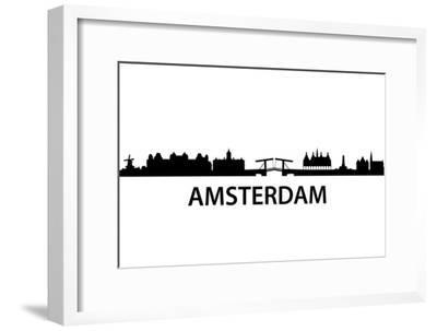 Skyline Amsterdam-unkreatives-Framed Art Print
