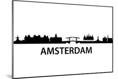 Skyline Amsterdam-unkreatives-Mounted Art Print