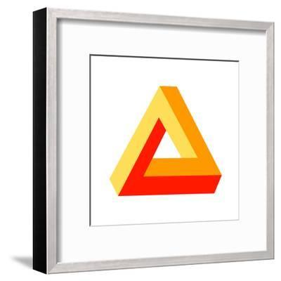 Optical Illusion-photazz-Framed Art Print