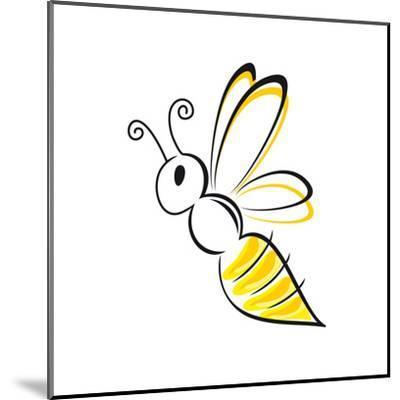 Bee Stylized-talitha-Mounted Art Print