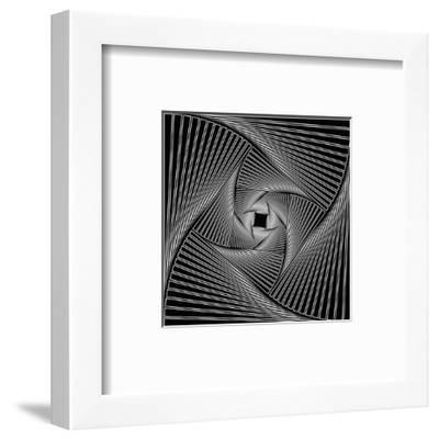 Black Spiral-Nemosdad-Framed Art Print