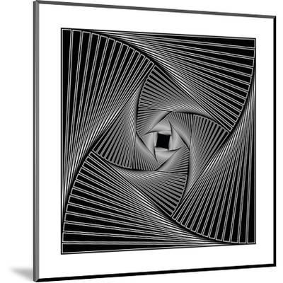 Black Spiral-Nemosdad-Mounted Art Print