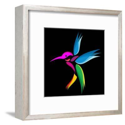Hummingbird-yod67-Framed Art Print