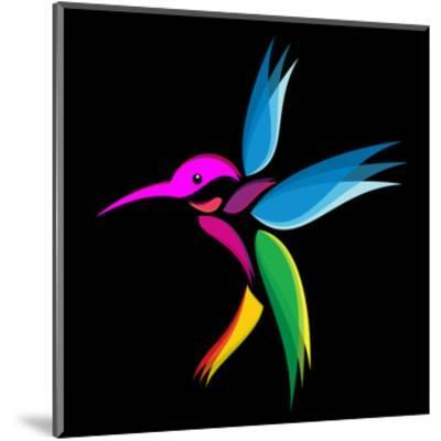 Hummingbird-yod67-Mounted Art Print