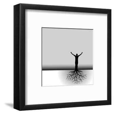 Tree Man Roots-mike301-Framed Art Print