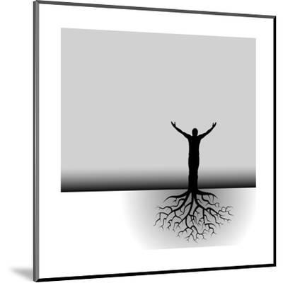 Tree Man Roots-mike301-Mounted Art Print