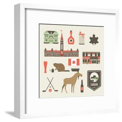 Canada Icons-vector pro-Framed Art Print
