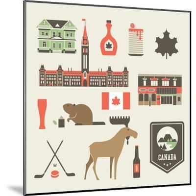 Canada Icons-vector pro-Mounted Art Print