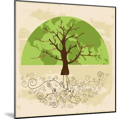 Tree World Concept-cienpies-Mounted Art Print
