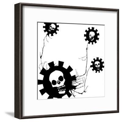Flower Of Evil #1-JeffreyThompson-Framed Art Print