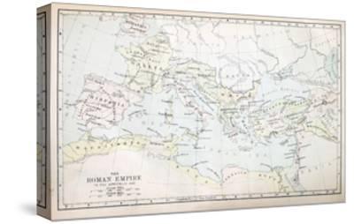 Roman Empire Map-pancaketom-Stretched Canvas Print