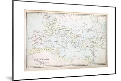 Roman Empire Map-pancaketom-Mounted Art Print