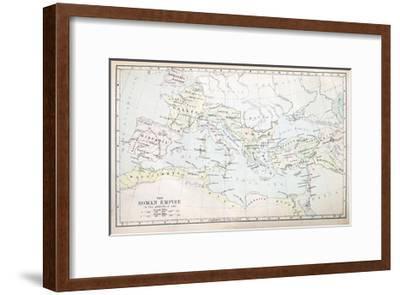 Roman Empire Map-pancaketom-Framed Art Print