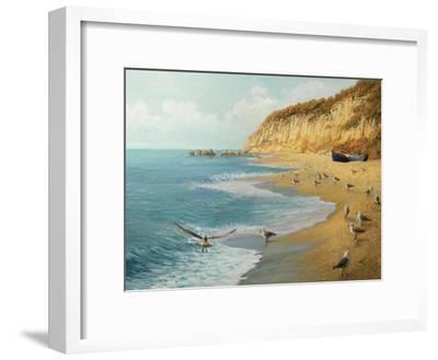 The Beach-kirilstanchev-Framed Art Print