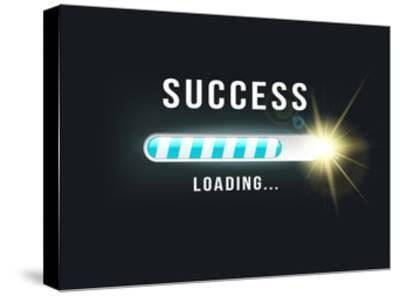 Loading.. Success- bymandesigns-Stretched Canvas Print