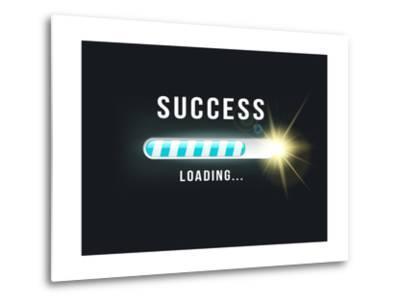 Loading.. Success- bymandesigns-Metal Print