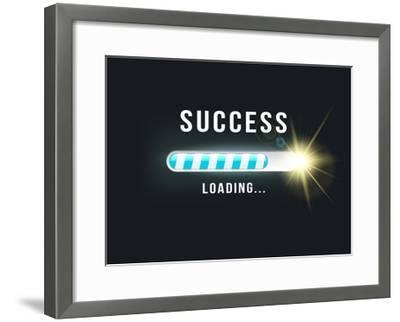 Loading.. Success- bymandesigns-Framed Art Print