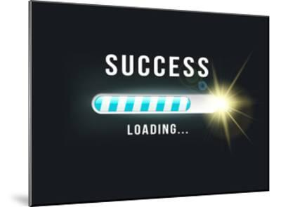Loading.. Success- bymandesigns-Mounted Art Print