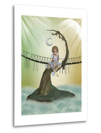 Tree Moon-justdd-Metal Print