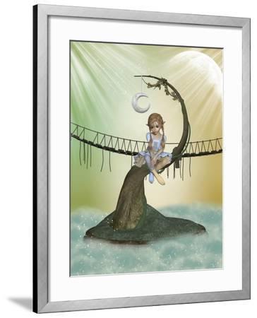 Tree Moon-justdd-Framed Art Print