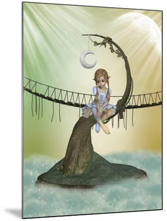 Tree Moon-justdd-Mounted Art Print
