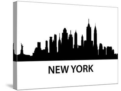 Skyline New York-unkreatives-Stretched Canvas Print