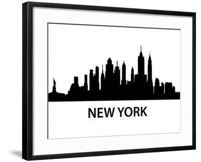 Skyline New York-unkreatives-Framed Art Print